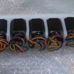 5 NEMA 17 motors